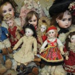 collection of small French dolls